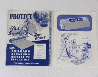 Vintage Foilrapp Advertising Brochures from 1940's - 50's Seattle Washington