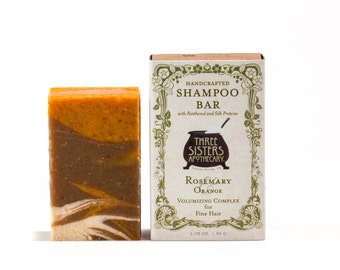 Rosemary & Orange Shampoo Bar - 1.75 oz. - Volumizing Formula for Fine Hair