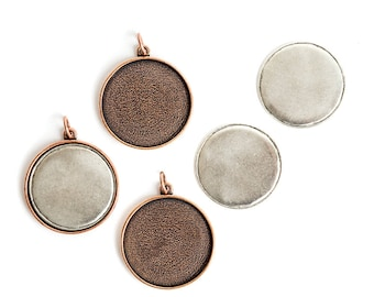 Jewelry Kit for Embroidery Grande Circle 3 Pack - Copper