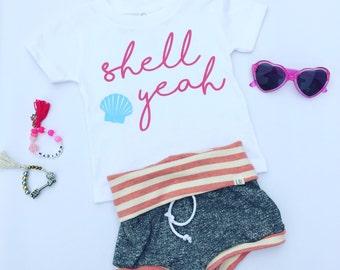 Shell Yeah Tee // Beach // Kids Tee // Kid Shirt // Summer // Toddler Tee // Shell
