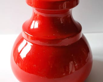 Vintage Red vase, 70 years handmade
