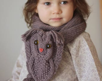 OWL WAYS Scarf Knitting Pattern