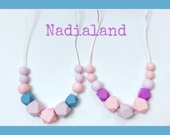 Breastfeeding Necklace/ Nursing necklace/ Teething necklace/ Babyshower gift/ Mom Gift/ Silicone nursing necklace / Teething beads/ Silicone