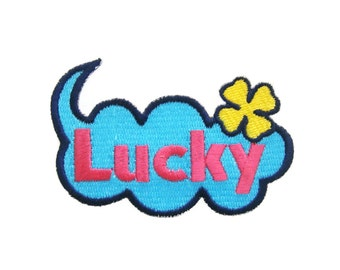 Lucky Embroidered Applique Iron on Patch