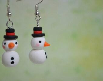 Kawaii Snowmen Earrings