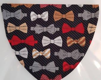 Bow Tie Print Dog Bandana