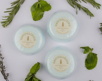 Revitalizing Shower Steamer -  Set of 3 Rosemary Mint Shower Bombs - Shower Fizzie - Wife Gift - Girlfriend Gift - Mothers Day Gift