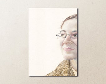 Custom Watercolor Portrait Original