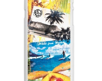 iPhone 6s/6 Case, ALOHA FROM WAIKIKI, iPhone6s, iPhone 6s Plus, Surfing, Hawaii, Ocean, Best Seller, Avail. with Black or White Sides