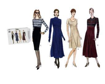 Vintage 90's Vogue Basic Design 1900 Sewing Pattern Misses Dress Pattern Misses Size 12 Bust 34 DIY Ladies Fashion 1996 Woman's A Line Dress