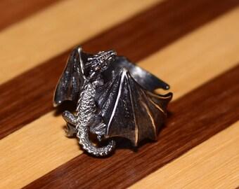 silver ring dragon
