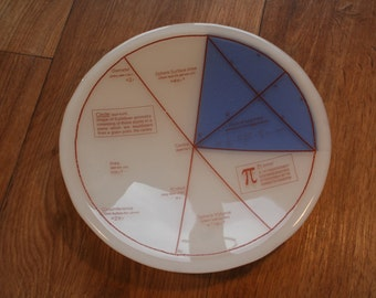 Geektastic Circle/ Maths/ Pi/ Equations Bowl - With Different Colour Segment