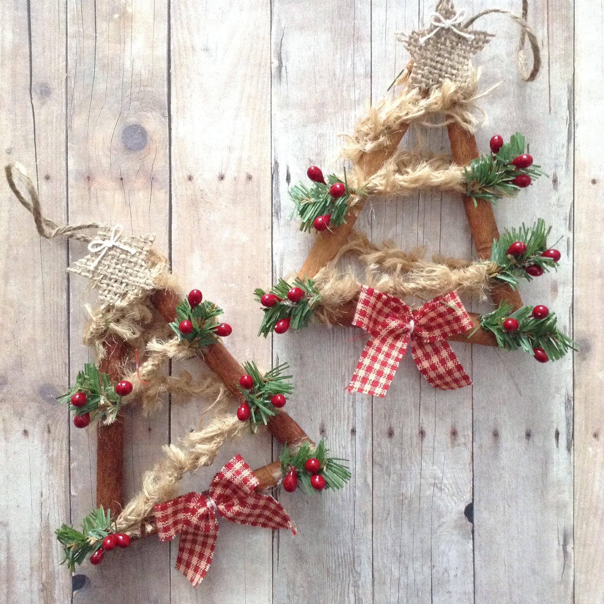 Christmas Tree Ornaments / Cinnamon Sticks Christmas Tree