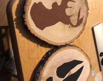 Log Drink Coasters