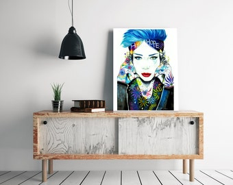 """limited edition prints (hand signed) of """"Pixie Cold"""""""