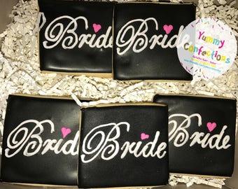 Bride; Wedding Shower; Bridal Shower; Engagement; Wedding Cookies - 1 Dozen (12 Cookies)
