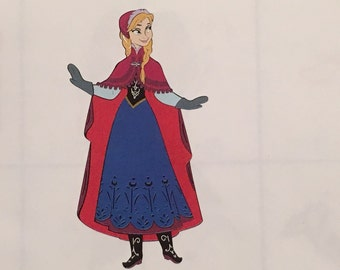Anna die cut from Frozen