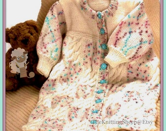 PDF Knitting Pattern for a Babies Sleeping Bag or Cocoon - Instant Download