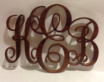 Custom Hardwood Monograms