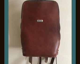 Leather Satchel / Smaller backpack / Excellent vintage leather satchel
