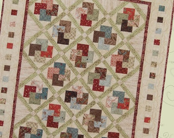 Trick of the Cards wallhanging and lap size quilt pattern by Whimsicals
