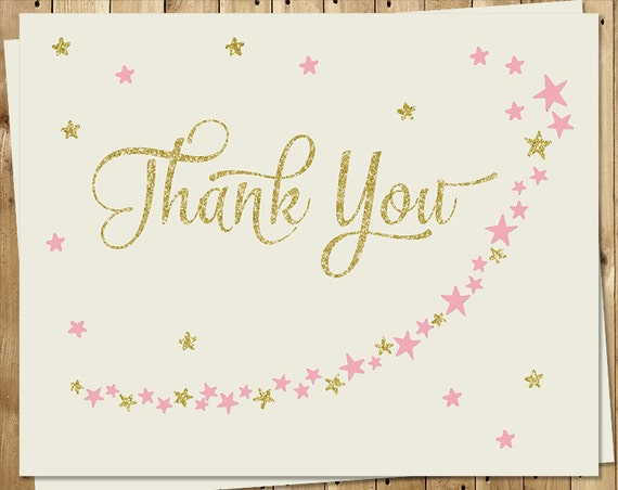 Twinkle Little Star Thank You Cards Baby Shower Birthday