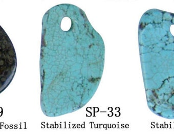 Semiprecious Stone Pendant _ 26 Styles Available