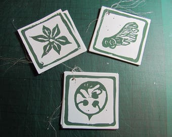 Seed pod gift tags
