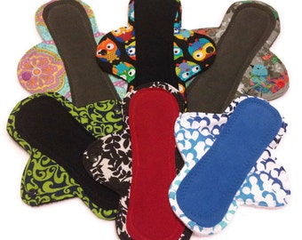 Custom Cloth Pads, Stay-Dry Pads, Reusable Menstrual Pads - Pantyliner, Moderate, Heavy, Overnight - You choose fabric! mama cloth pads