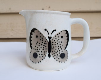 ARABIA FINLAND pitcher vintage Finland butterfly pitcher creamer syrup fabulous vintage Mid Century Mod kitchen collectible