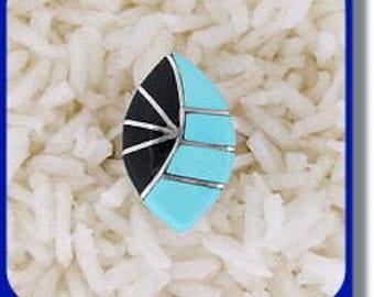 Women's Inlaid Stone Ring
