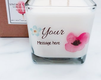 Your Message Here ~Personalized Candles~Mother's Day Gifts~ Personalized Gifts~Mother of the Bride~Wedding Candles~Bridal Shower~Birthday