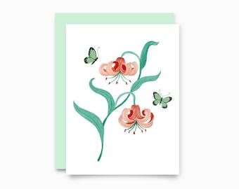 Lilium greeting card