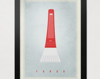 Fargo TV Series Poster - Minimalistic FARGO Print - Ice Scraper