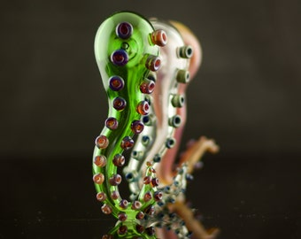 Octopus Tentacle Glass Pipe in Your Choice of Color