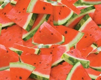 Watermelon - Food/Fruit/Cooking - 100% Cotton Fabric [[by the half yard]]
