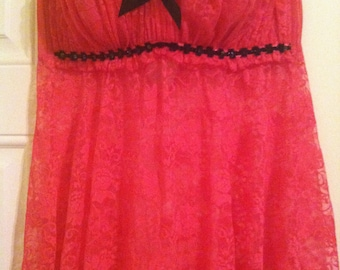 Hot Pink Nightie by Frederick's - Size XL
