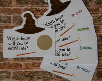 Harry Potter Game - Birthday Party Favors - Harry Potter Birthday Party - Harry Potter Sorting Hat Game - Wizard Party Favors - Sorting Hat