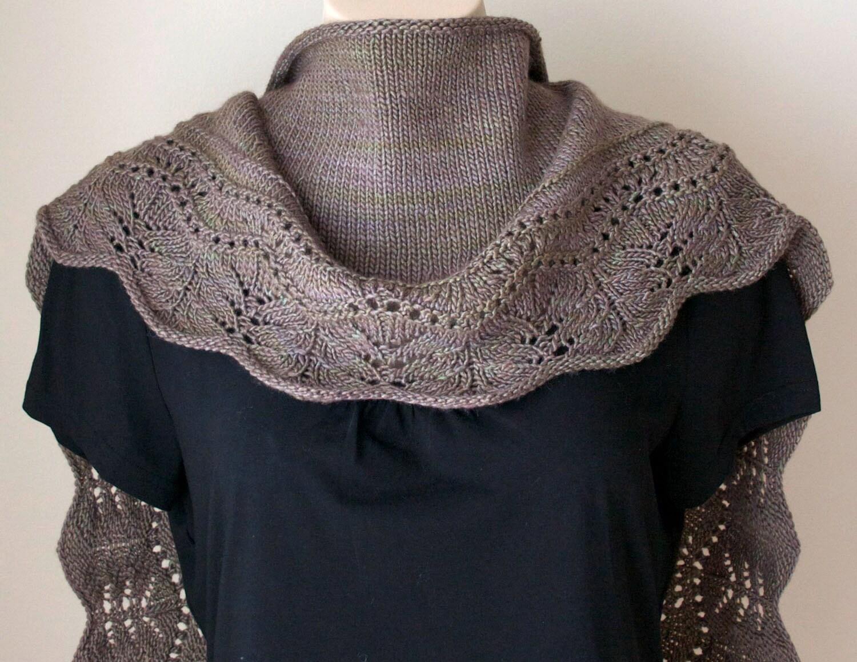 Knitting Pattern Shawl. Crescent Shawl Pattern. Knitting accessories ...