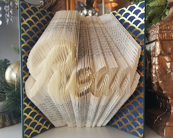 Avid reader gift etsy read folded book art home decor gift ideas friends coworkers book lover gift avid reader gift friend gift book gift love to read negle Choice Image
