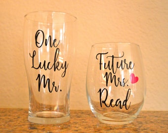 Personalized beer and wine glass