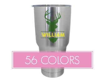 Buck Name Tumbler Decals, Buck Tumbler Decals, Monogram Tumbler Decals, Name Tumbler Stickers, Custom Decals, Custom Stickers