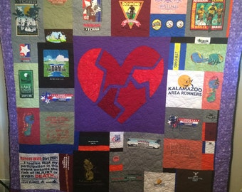 Any Size T-Shirt Quilt (Custom Make T-Shirt or Photo Quilt or Memory Quilt) (100 Deposit)