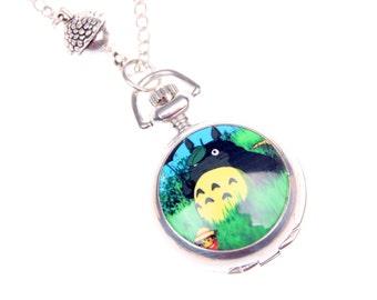 Totoro Necklace, Totoro pocket watch 2222M