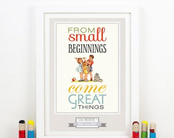 Personalized Nursery Art, Personalized Baby, Personalized Nursery Decor, Personalised Birth Print, New Baby Gift, Nursery Quote, BIrth Gift