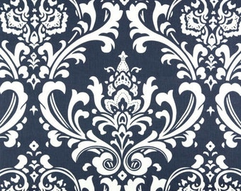 "OZBOURNE Premier Prints Damask Fabric By the Yard Blue Twill or you choose color -54"" wide-1 yard-7 ounce cotton decorator fabric"