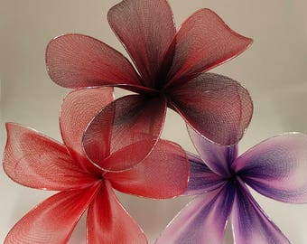 Nylon plumeria hair pick