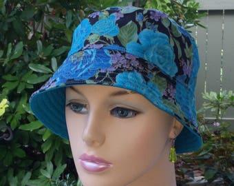 Chemo Hat Womens Cancer Hat Chemo Headwear Bucket Hats ALL Season Reversible Hat SMALL/MEDIUM