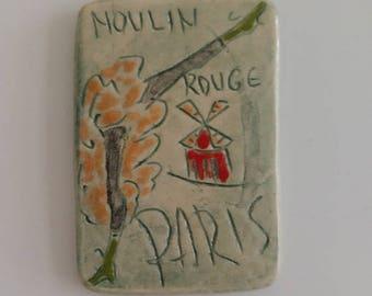 Paris Moulin Rouge fridge magnet