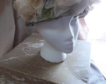 1960's Spring Flowered Hat with original box